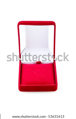 red velvet box (isolated on the white)