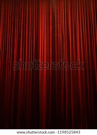 red velvet curtain blind #1198525843