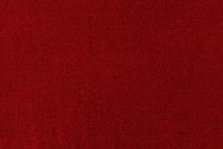 Red velvet paper texture background. Velor suede cardboard with blank surface. Elegant template for banner design