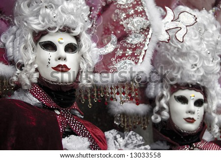 red venetian carnival