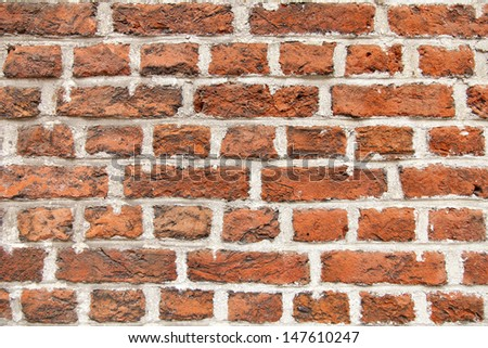 red vintage brick wall background