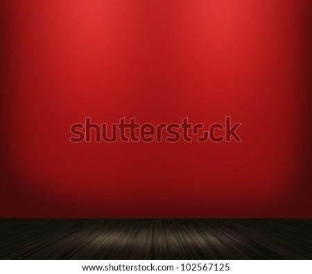 Red Vintage Room Background