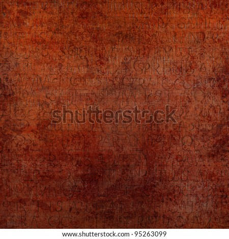 red vintage square background with the natural texture