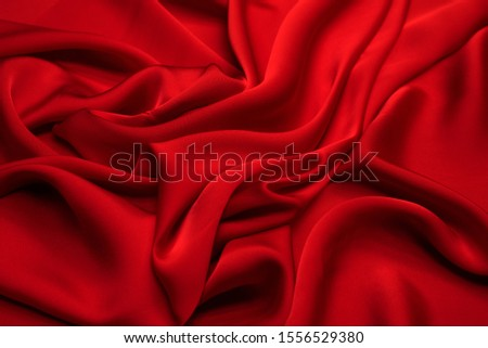 Red viscose fabric. Pattern, background. #1556529380