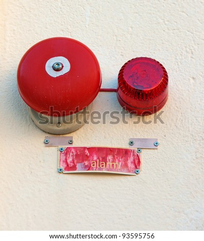 Red wall mounted Fire Alarm Bell