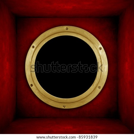 red wall with mystery hole
