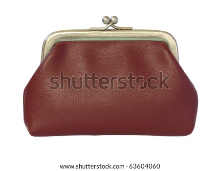 Red wallet on a white background.