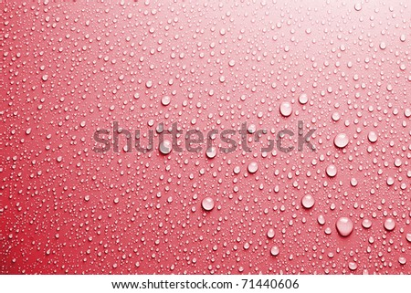 red water drops background texture