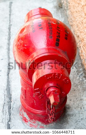 Red motor water pump and water pipes Images and Stock Photos