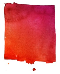 red watercolor background on textured paper