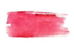 Red watercolor brush strokes with space for your own text