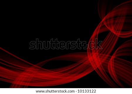 Red wave on black