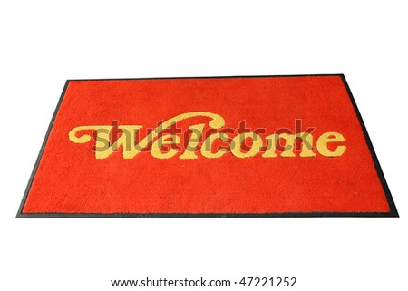 Red Welcome Mat Isolation
