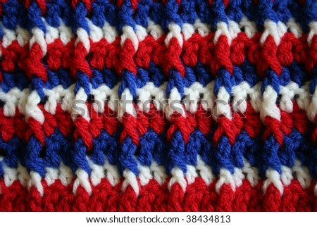 Red, White, and Blue Crochet Fabric
