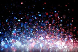 Red, white and blue glitter