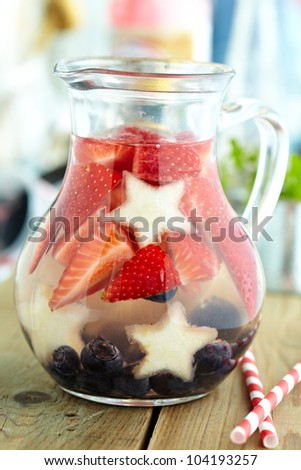 Red, White and Blue Lemonade or Sangria