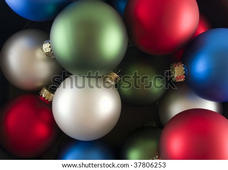 Red White and  Blue Spheres Isolated