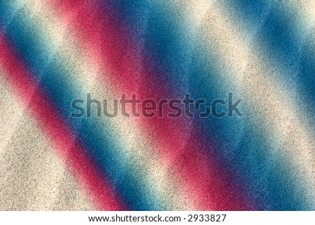 Red white and blue wavy sand abstract background