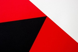 Red white black background. Copy space. Avant-garde