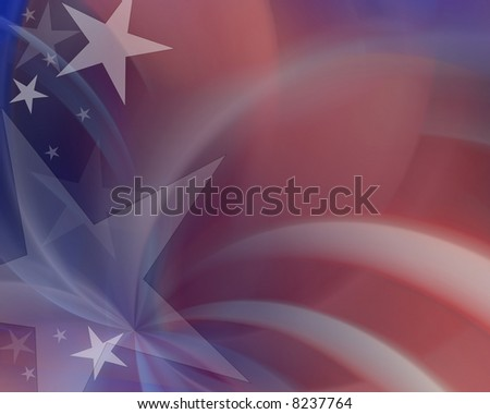 Red white & blue abstract background