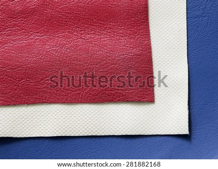 Red ,White , Blue leather texture background
