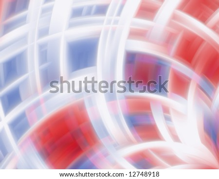Red, white & blue swirling blur abstract background