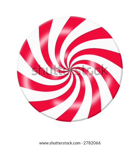 Red White Peppermint Christmas Candy, Graphic, On A White Background