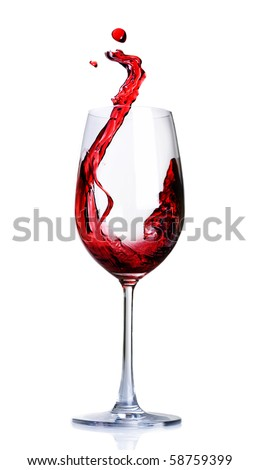 Red Wine Abstract Splashing #58759399