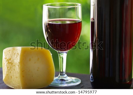 Red wine and cheese.