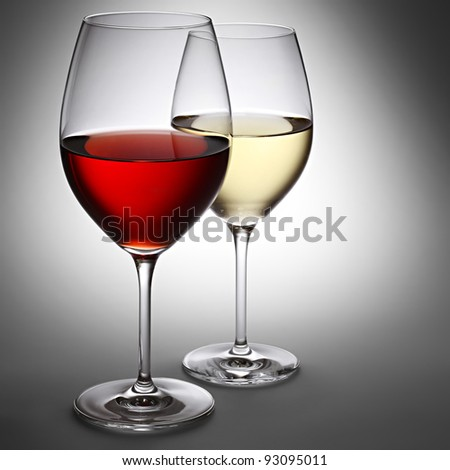 Red wine and white wine