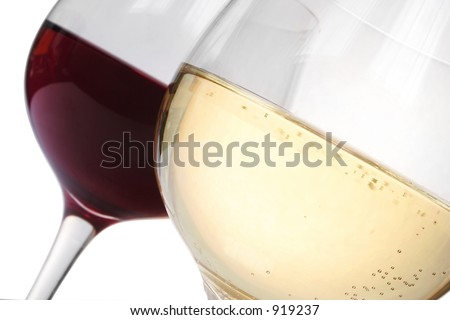 Red wine and white wine toast