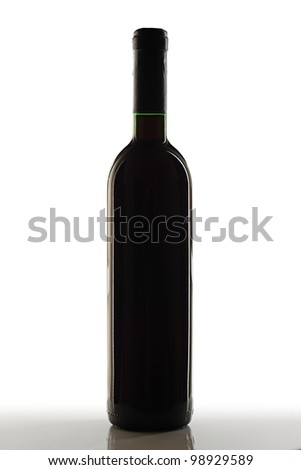 Red wine bottle.