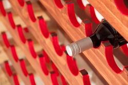 Red Wine Bottle on Wine Rack