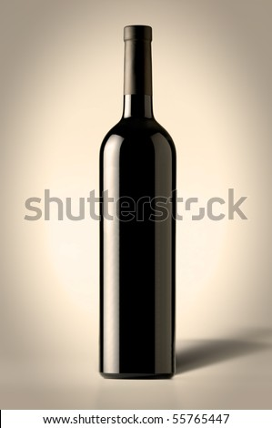 Red Wine Bottle with shadow