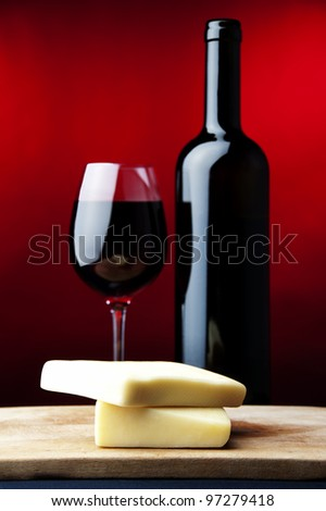 red wine, cheese