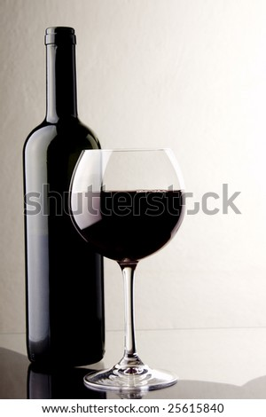red wine glass bottle