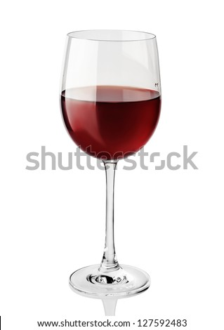 Red wine glass isolated on white background #127592483