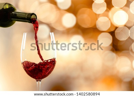 Red wine glass  on  background #1402580894