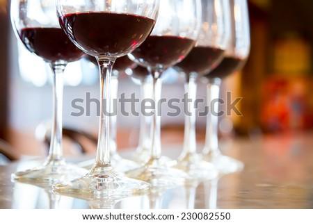 Red wine Glasses for wine tasting