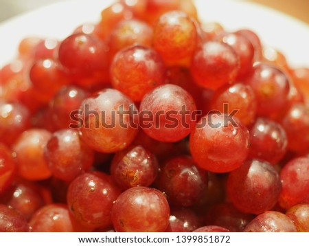 Red wine grapes background/ dark grapes/ blue grapes/ wine grapes - Image