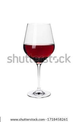 Red wine in a glass isolated on white background Foto d'archivio ©
