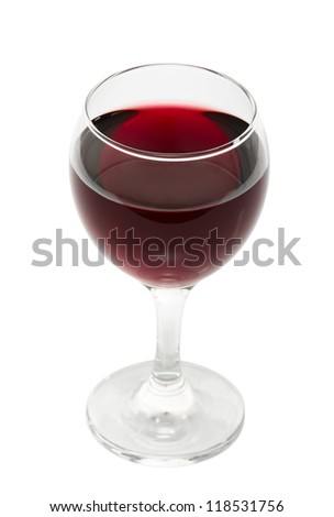 Red Wine. Isolated with clipping path.