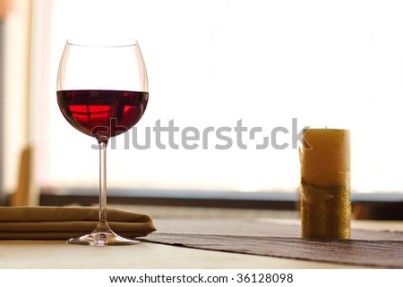 Red Wine on table