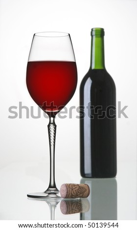 red wine on the table