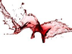 Red wine splash, close up