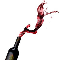 Red wine up from a bottle