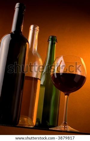 red wine white wine sparkling wine bottles glass