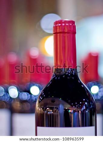 red wine wite blur background