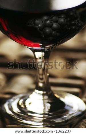red wine with grape overlay, in tiff #1362237