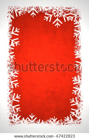 Red winter background, useful as Christmas background with space for text or image